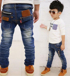 Hot 2018 primavera outono roupas infantis meninos bebê calças de brim calças calças atacado varejo 4-12 anos de idade frete grátis