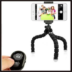 2019 Flexible Octopus Tripod Phone Holder Ständer Halterung mit Steuerung für Handy-Kamera Selfie mit Bluetooth Remote Shutter