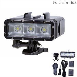Gopro 5 Go Pro Diving flashLight lamp Waterproof LED Flash Video Light For GoPro Hero 5 4 3+,SJCAM SJ4000 6000 SJ7000 Xiaomi Yi