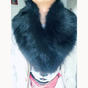 Yeni Kadın Faux Fur Eşarp Yaka Şal Erkekler Kış Coat Yaka dekor Promosyon Sıcak Satış Şapka Dekor Eşarp 2017 10 Renkler