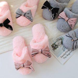 Millffy French pantoufles lèvres brillantes fourrure maison pantoufles mode féminine anti-dérapant pantoufles imperméables