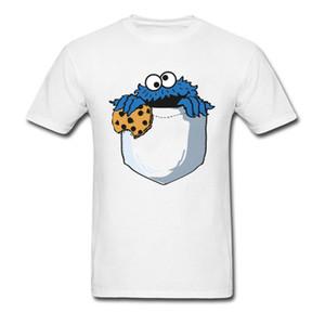 Migalhas No Meu Bolso Camiseta Cookie Monstro Camiseta Homens Engraçados Tops Tees Dos Desenhos Animados T-shirt Verão Designer De Roupas De Algodão