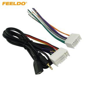 FELELO Car Audio CD ستيريو الأسلاك تسخير محول مع USB / AUX (3.5 مم) التوصيل لكيا K2 / K5 / Sportage R مصنع OEM راديو CD / DVD ستيريو # 4117