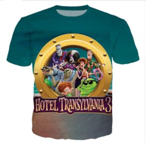 Wholesale - Newest Fashion Womens Mens Couples Cartoon Movie Hotel Transylvania Funny 3D Print Casual T-Shirts Free Shipping ZL086