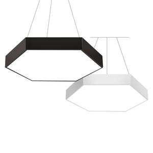 Arte Moderna de geometria Hexagonal dispositivo de iluminação pendente com luz LED para mesa de jantar sala de reuniões