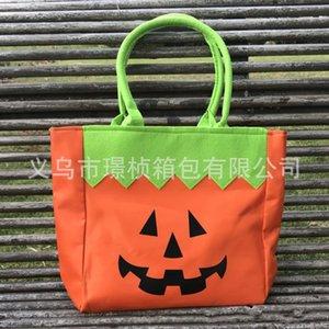Sac de rangement portable Halloween cadeau citrouille chat motif fourre-tout Resuable Snack Candy sac à main nouvelle arrivée 14 5jz BB