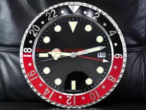 8 couleurs De Luxe Haute Qualité Horloge Murale GMT 116719 116610 116710 Horloge Murale 34 CM x 5 CM 3KG Quartz Électronique Bleu Luminescent Horloge
