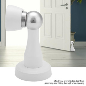 New Stainless Steel Magnetic Door Stop Stopper Door Catch Holder Wall Protection Device Stop Set For Home Accessories