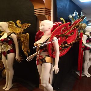 Lady BH Model Bühne tragen LED-Licht Kostüme liefern Sänger Party Ballroom Dance sexy Kleidung dj sexy Kleid Frauen Performance Catwalk-Modelle