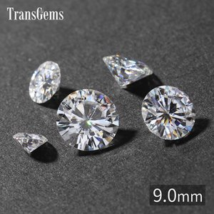 TransGems 9mm 3 Quilate GH Cor Certificada Homem feito de Diamante Solto Moissanite Bead Teste Positivo Como Real Diamante Gemstone
