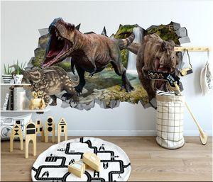 3d номер обои пользовательские фото нетканые фрески современный минималистский 3D стены динозавр детская комната стены фото обои для стен 3 d