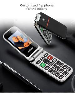 artfone CF241A téléphone principal, double coque, téléphone chiquenaude, bon téléphone haut, grand téléphone bouton, téléphone facile, grande batterie, haut-parleur, SOS, bouton côté