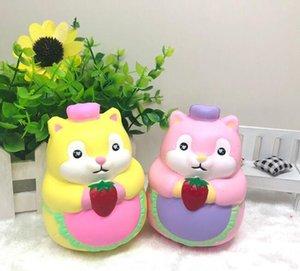 Chef Hamster Squishy Kawaii Jumbo Lento Rising Telefone Correias Dos Desenhos Animados Creme Perfumado Pão Kid Toy Presente Do Divertimento EEA277