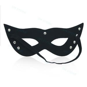 Traje de ojo de gato para las mujeres Holloween Partido ojo abierto de la mascarada Equipo atractivo # R78