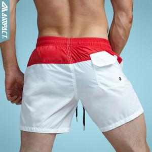 Aimpact Fashion Summer Sexy Beach Men 's Shorts ocio forro forro hombres Junta Shorts Patchwork Fast Dry elástico de la cintura corto Dt62