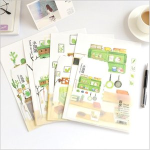 Ideal Home Small Corner Cactus verde 4 páginas letter paper + 2 Pages envelope Writing Paper Love Letter Stationery
