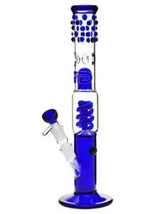 스플래시 가드와 고품질 유리 봉 코일 로터 수 16 인치 18.8mm 공동 봉 물 담뱃대