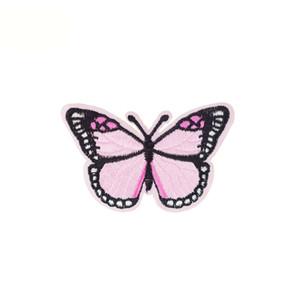 10pcs de la mariposa parches placas calientes de hierro ropa parche bordado apliques de hierro en los accesorios de coser parches para la ropa