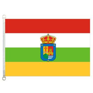 라 리오하 (국장) 플래그 배너 3X5FT-90x150cm 100 % 폴리 에스터, 110gsm 워프 니트 원단 야외 깃발