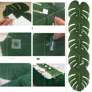 35 * 29 cm Artificial Tropical Palm Leaves Garden Party Decoraciones Fake Leaf Home Wedding Banquet Cena Cena Mat Verde Color 14 5hb ZZ