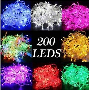20 متر ماء 110 فولت / 220 فولت 200 أضواء led سلسلة احتفالي لمهرجان عيد الميلاد حزب الجنية الملونة عيد الميلاد ديكور جارلاند أضواء led