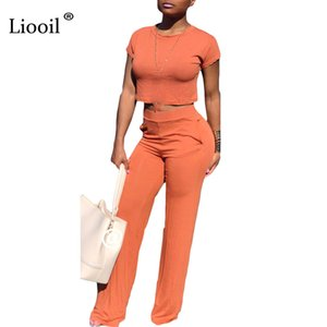 Liooil Sexy Club Zweiteiler Bodycon Frauen Overalls Sommermode Kurzarm O Neck Party Strampler Womens Overall Overalls