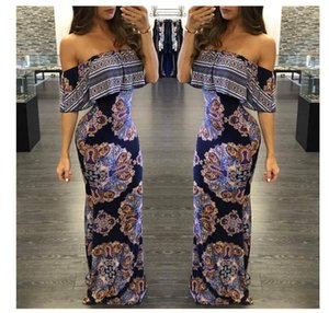 summer Ethnic style dress women's chest wrapped hedging tropical print dress female sweet cute fashion sexy Comfortable dresses
