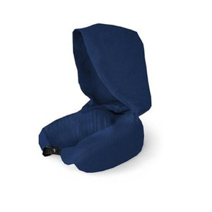 New Travel Neck Pillow With Hood Neck Support Solid Color U-Shape For Airplane Car Lightweight Easily Portable Neck Cushion