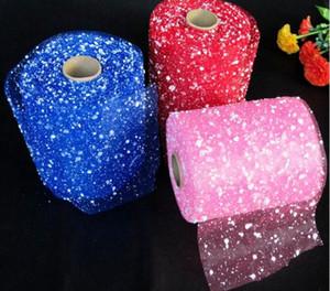 Muy buena calidad fantasy bubble hilado de nieve de unos 15 cm de ancho, 18.5 metros de largo Wedding Decorations Wedding bouquet material de embalaje WQ069