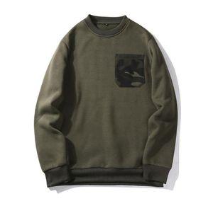 Avril] uomo Hoody Mens T-shirt, abbigliamento sportivo, maglione stile americano o-collo patchwork tempo libero giacca a maniche lunghe WY10 solido