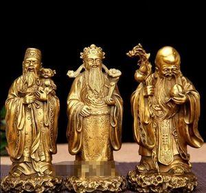 + Cuivre bronze artisanat Ameublement fukurokuju Samsung Feng Shui décoration