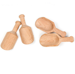 200pcs lot Mini Wooden Scoops Bath Salt Powder Spoon Bath Shower SPA Tool Bath Salts Candy Laundry Detergent Powder Spoon SN1476