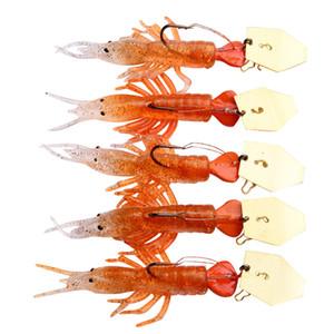Мягкие силиконовые гольян креветки Grub рыболовная приманка с крючком или без крючка 8,5 см-13 г 7,5 см-5,3 г мягкие рыбы приманки набор