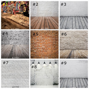 Vintage Brick Wall Photo Backdrops Wood Floor backdrop Photography Background studio prop studio prop wallpaper decor 85*125cm