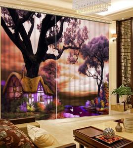 Современные Sheer 3D шторы пейзаж свадебные шторы для гостиной Кухня фон балкон пейзаж занавес