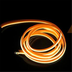 1 м DIY украшения авто интерьер автомобиля LED EL Wire Rope Tube Neon Light Line с контроллером для шоу Свадьба декор