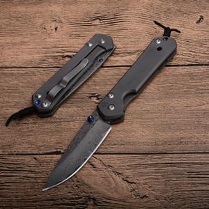 Drop Shipping CR Sebenza Petit couteau pliant en acier Damas Lame TC4 en alliage de titane cadre de verrouillage EDC Couteaux de poche