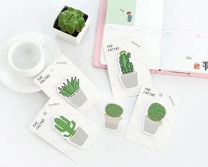Novo 30 páginas / pacote Fresco Cactus Amor Memo Pad Sticky Notes Memo Notebook Papelaria Papelaria Escolar Material Escolar