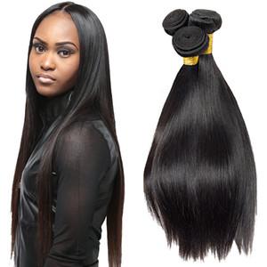 Straight человеческих волос Weave 3 Связка / Lot Remy человеческих волос верхнего качество бразильский индийский перуанский малазийский Дешевые волос ткет Extensions Продажи