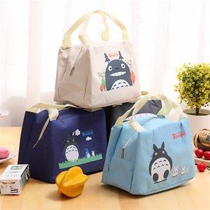 Bolso de almuerzo de Oxford nuevo Bolso de dibujos animados lindo Mi vecino Totoro Kawaii Bolso de almuerzo de aislamiento Bolsa de almacenamiento Estuche de picnic