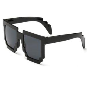 Homens de óculos de sol dos homens bandido vida designer de homens das mulheres 8 bits pixel retro óculos de sol feminino masculino mosaico óculos de sol