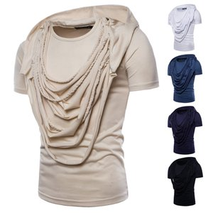 Foreign trade men's clothing 2018 Europe and the United States men's wear summer clothing trade trend short-sleeved T-shirt complex knitting