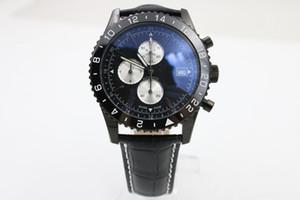Top frete grátis marca mens preto dezel blue dial assista mens black belt relógios suíço mens relógio de pulso