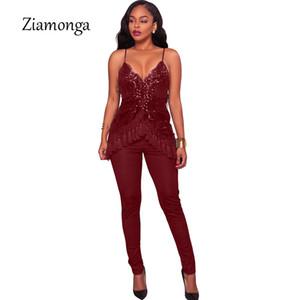 Ziamonga Populaire Paillettes Salopette Femmes Barboteuses D'été Glitter Strap Gland Paillettes Sexy Partie Combinaison Femme Combinaisons Clubwear