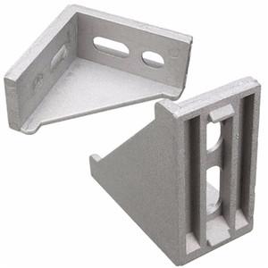 2 pezzi 28x58x58mm Alluminio a forma di L Brace angolo comune ad angolo retto Staffa 4 fori