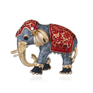 2018 new fashion popular clothing accessories High-grade atmosphere cloisonne animal pins Cute elephant brooch apparel accessories