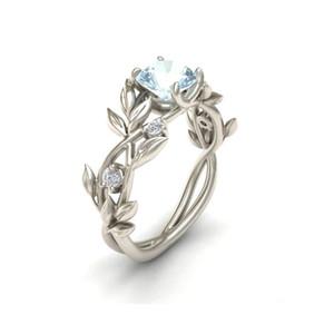 Cristallo Fiore Vite Foglia anelli di disegno 20PCS di colore di modo d'argento per le donne Femme anello dell'annata di dichiarazione dei monili amante regalo di Natale