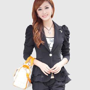 biktble 2017 6XL femmes veste Vêtements de travail revers court petit costume féminin blazer femmes blazers et vestes costume J135