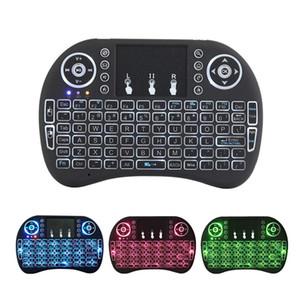Mini i8 tastiera retroilluminata 2.4G Wireless Fly Air Mouse ricaricabile con retroilluminazione Touchpad telecomandi per MXQ pro X96 TV Box