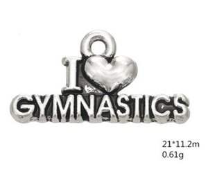 I love gymnastics word sporty charm